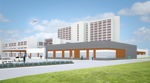 Plans for the new ECMC emergency department call for a 54,000-sq.-ft. facility with 54 treatment stations, including four trauma rooms and two medical resuscitation rooms, compared to the current 34 rooms in 26,000 square feet. The department would be adjacent to ECMC building.