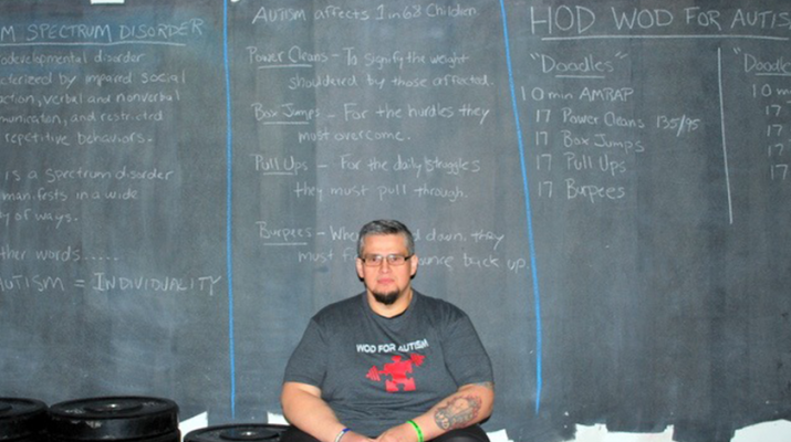 Joseph Borgisi organizes WOD (Workout of the Day) for Autism. He lost 200 pounds since 2013, when he started his CrossFit regimen. He weighted 550 pounds at the time.