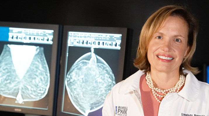 Physician Ermelinda Bonaccio, clinical chief of breast imaging at Roswell Park Cancer Institute in Buffalo.