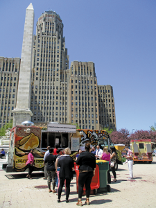 Food truck just outside City Hall, during a recent Thursday Food Truck Rodeo.