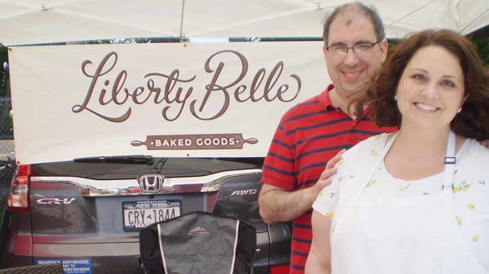 Linsey Schiavi and her husband, David Heraty, bake vintage homemade American desserts inside their Buffalo home that are later sold to farmers' market patrons in the Southtowns.