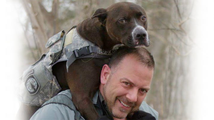 WNY Heroes founder Chris Kreiger and his service dog. Photos courtesy of WNY Heroes