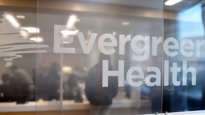 Sign in the waiting room at the newly opened Evergreen Health medical group at 206 S. Elmwood Ave. in Buffalo.