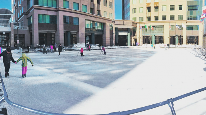 Rotary Rink at Fountain Plaza, which is managed by Buffalo Place. Photos courtesy of Buffalo Place, Inc.