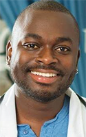 Kwasi Adusei, a teaching assistant at University at Buffalo's School of Nursing, helps teach clinical skills and conduct mental health lectures.