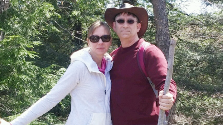 "Tricia and Keith Rohleder during a hiking trip. ""I have a lot of support and I rely greatly on my wife. She's my rock and we both rely on family,"" said Keith Rohleder He was diagnosed with a rare type of disease, blastic plasmacytoid dendritic cell neoplasm (BPDCN)."