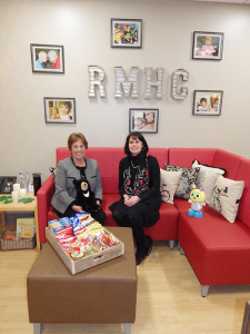 Sally Vincent, the executive director of the Ronald McDonald House of WNY and Marianne Hoover, the hospital programs manager
