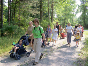 Visitors of all ages enjoy the trails at Reinstein Woods Nature Preserve in Depew.