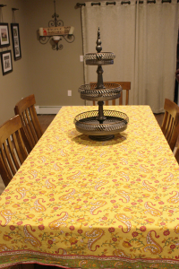 Sew New Memories in Angola is an adaptive clothing company that specializes in converting familiar home fabrics into something new for loved ones with special needs. In this case, owner Kim Sexton converted a table cloth into a dress.