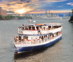 Buffalo Harbor Cruises offers sightseeing and party cruises and private charters that feature breathtaking scenic views, picturesque sunsets and great entertainment aboard the Miss Buffalo II. Photo provided.