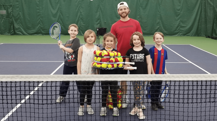 Kids ages 4 and older — of all ability levels — can enjoy the ultimate tennis experience at Miller Tennis Club through its many junior programs. Photo courtesy of Miller Tennis Club.