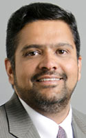 Physician Vijay Iyer, chief of the division of cardiology at the Jacobs School of Medicine and Biomedical Sciences at the University at Buffalo. He practices at Buffalo General Medical Center and Gates Vascular Institute.