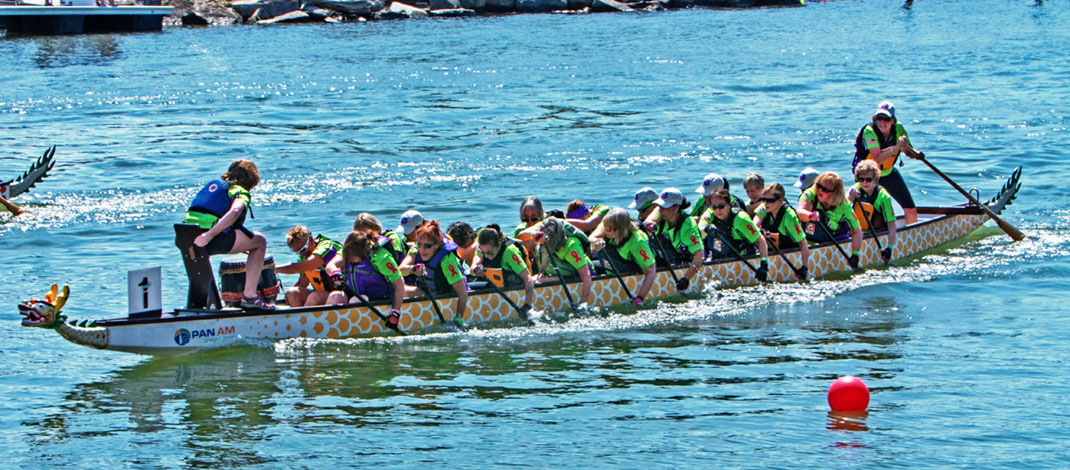 Hope Chest Buffalo sponsors the dragon boat team that provides both fitness opportunities and camaraderie for members, usually canceer patients. Photo provided.