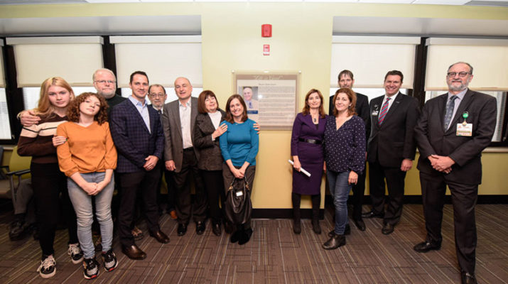Dedication of the Rocco C. Venuto MD Transplant and Vascular Access Center on Dec. 3.