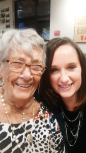 Shirley Mozer, of Buffalo (formerly of Amherst) with her granddaughter, writer Jenna Schifferle. Photo provided.