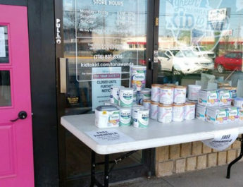 Owners of Kid to Kid Tonawanda, Michelle and Christopher Talley, in March donated $3,000 worth of baby formula.