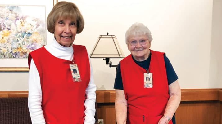 "Volunteers are an integral part of hospice care, which coordinates symptom and medication management in addition to offering emotional, social and spiritual support. The photos can all be credited as ""Courtesy of Hospice & Palliative Care Buffalo"""