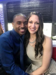 Jennifer Sansano and her boyfriend Marcellus Eccles. She is due to give birth in August. After discussing the birth environment they wanted, Sansano had switched her care from a traditional OB-GYN to a midwife, coronavirus notwithstanding.