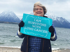 Colleen Conner Ziegler visits Wyoming's Grand Teton National Park after she received a diagnosis of lung cancer five years ago, even though she never smoked in her life. She now is an advocate for more lung cancer research funding.