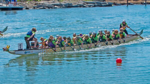 """""""We're all in the same boat — pun intended,"""" says Anne Kist, who heads Hope Chest in Getzville. Her group has offered free fitness programs, nutritional classes and, in the summer months, dragon boat racing for 20 years."""