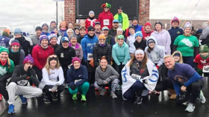 Group of participants in the 2019 Turkey Trot.