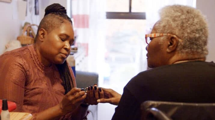 """Image from the """"Today Was A Good Day"""" documentary. Image features Caregiver KaTania Brown and her mother, Bessie."""