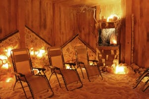 A place to relax and enjoy salt therapy at Serenity Salt Cave in Amherst.