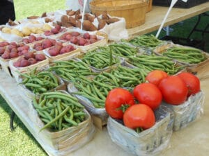 Produce and products offered at South Buffalo's Farmers' Market, a weekly Saturday event in Caz Park.