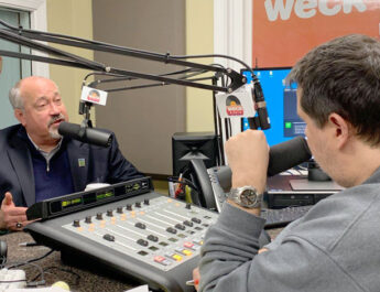 """Thomas Jasinski's tireless advocacy efforts include regular media appearances on local radio and television programs such as """"Senior Matters With Buddy Shula"""" on WECK 1230 AM."""