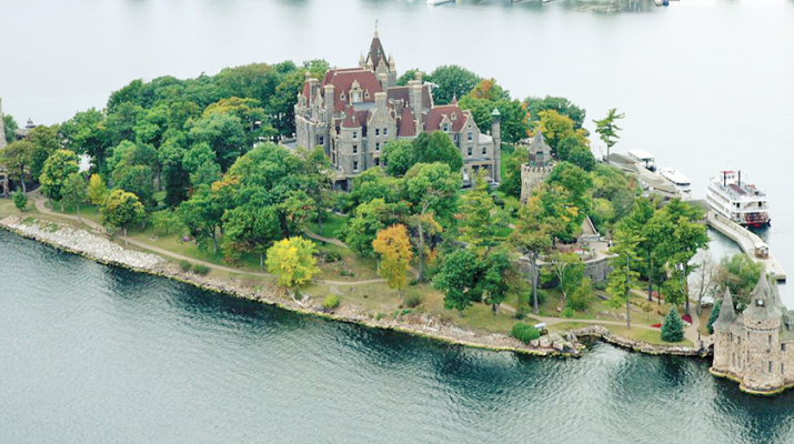 Boldt Castle in the 1000 Islands region. The place has undergone significant renovation recently.