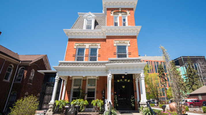 The Kevin Guest House has accommodated more than 1,200 guests per year who come to Buffalo for medical treatment. Officials are raising $3 million to open a fourth building on its campus, the Russell J. Salvatore Hospitality House, located at 766 Ellicott St. in Buffalo. The building is under renovation. Photos courtesy of Kevin Guest House.