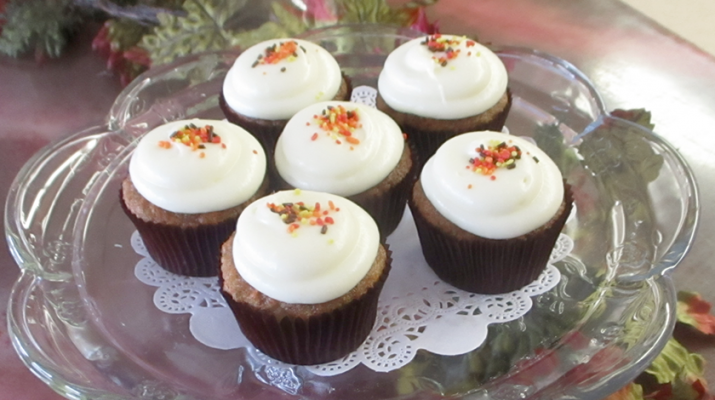 Making a smaller portion sized cupcake keeps calories at bay — and still allows for a bit of holiday indulgence.