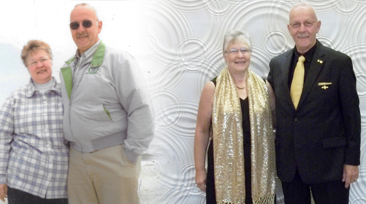 All her life, Judy Culbertson, 73, of Dansville, has battled with her weight. Though she's currently reached her weight loss goal, she still works to maintain it. She is shown with her husband Harold in 1997 and in 2018.