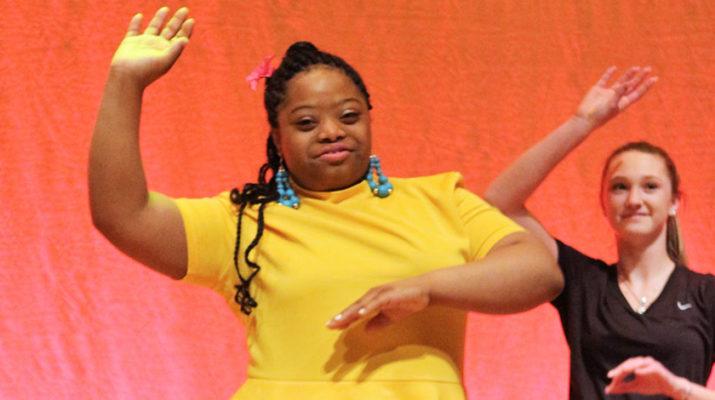 Rachel Johnson dances during a recent performance.